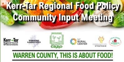 KERR-TAR COUNTY FOOD POLICY COMMUNITY EVENTS