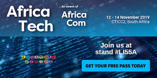 Be our guest at AfricaTech 2019!