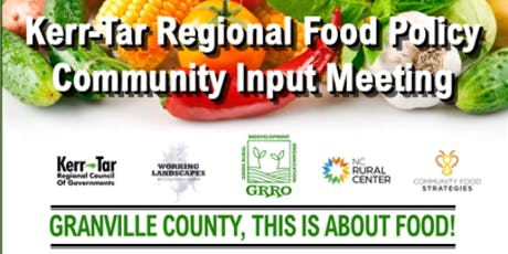 KERR-TAR COUNTY FOOD POLICY COMMUNITY EVENTS tickets