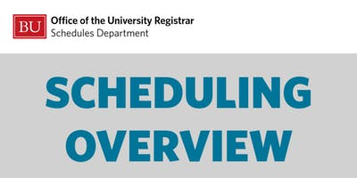 Academic Scheduling Overview