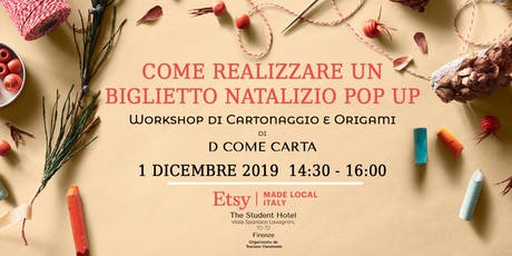 Biglietto Pop Up di Natale - Workshop di D come Carta biglietti