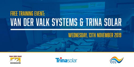 Van der Valk Solar Systems & Trina Solar Training Day with CCL Components