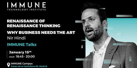 Nir Hindi: Renaissance of Renaissance Thinking - Why Business Needs The Art tickets