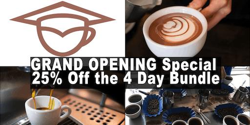 Coffee Business and Barista Training Bundle (4days) - Calgary
