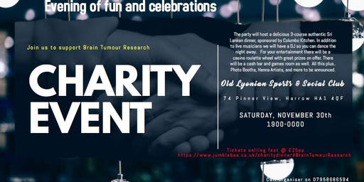 Charity Dinner/Dance-Brain Tumour Research