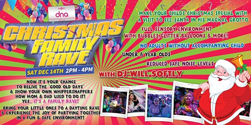 Christmas Family Rave with Santa's Grotto! Daytime Family Event