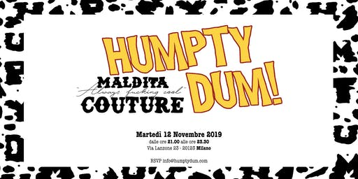 Humpty Dum's FW 2019 - Cocktail presentation