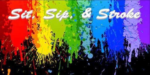 Sit, Sip, & Stroke