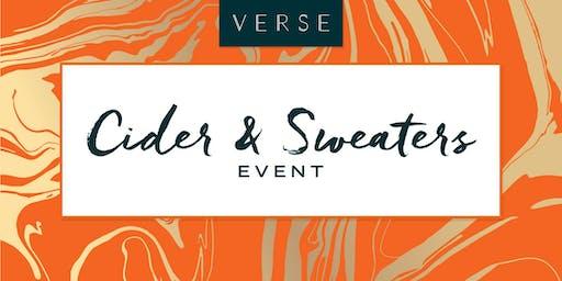 Verse Condos' Cider & Sweaters Event
