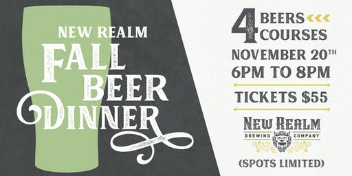 Winter Beer Dinner at New Realm Brewing
