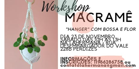 "Workshop Macramê - "" HANGER "" ingressos"