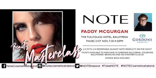 Note Cosmetics x Paddy McGurgan Beauty Masterclass