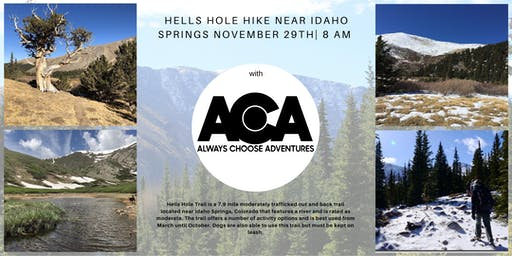 Avoid the Hells Hole of Shopping and Hike Hells Hole