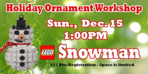 LEGO® Snowman Ornament Workshop