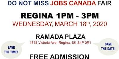 Regina Job Fair – March 18th, 2020