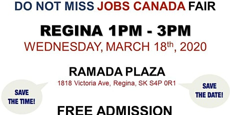 Regina Job Fair – March 18th, 2020 tickets