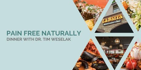 Pain Free Naturally | FREE Dinner with  Dr. Tim Weselak, DC tickets