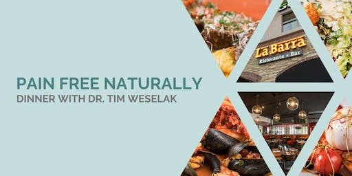 Pain Free Naturally | FREE Dinner with  Dr. Tim Weselak, DC