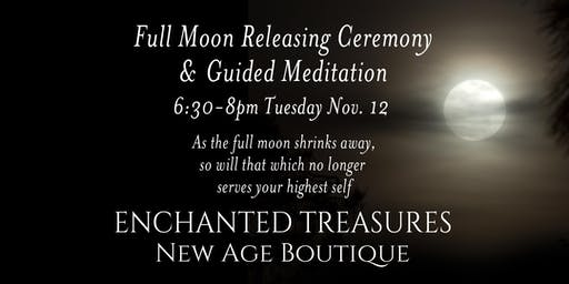 Full Moon Releasing Ceremony and Guided Meditation