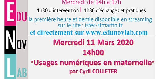 ATELIER EDUNOVLAB DU 11.03.20
