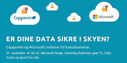 Frokostmøte - Er dine data sikker i skyen?