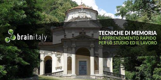 Varese: Corso gratuito di memoria