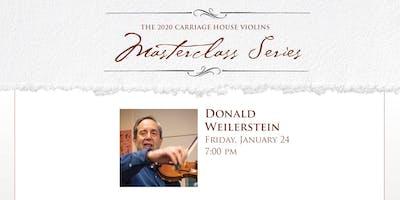 Donald Weilerstein Violin Masterclass