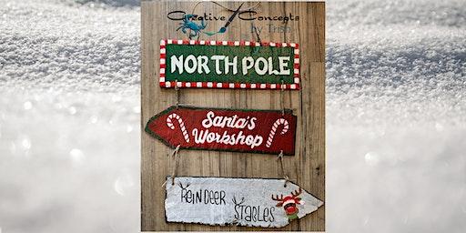 North Pole Slate Sign Paint Night