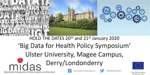Big Data for Health Policy Symposium - 20-21 Jan 2020