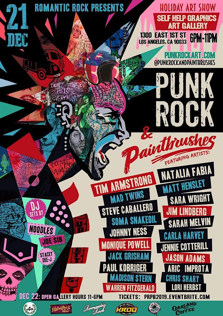 PUNK ROCK &PAINTBRUSHES HOLIDAY ART SHOW image