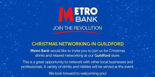 Metro Bank Christmas Networking In Guildford