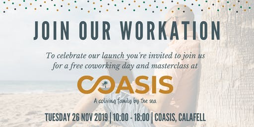 COASIS WORKATION - free coworking & masterclass by the beach