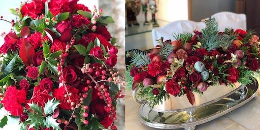 Workshop de Arranjos de Flores para o Natal