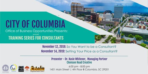 So You Want to be a Consultant?