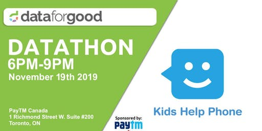 Kids Help Phone DataThon: Introduction Day (Event 1)