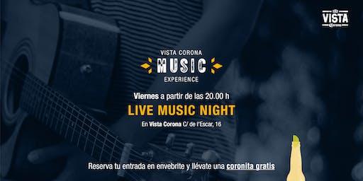 LIVE MUSIC NIGHT - Vista Corona La Barceloneta
