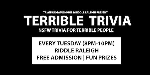 Terrible Trivia at Riddle Raleigh