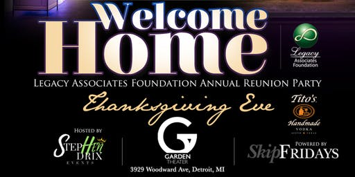 """Welcome Home 2019"" Annual Thanksgiving Eve Party"