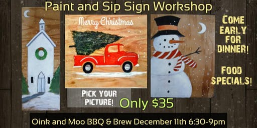 Paint and Sip Sign Workshop