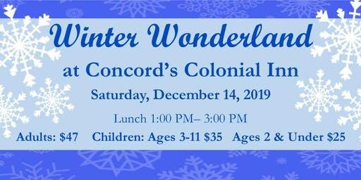 Winter Wonderland Lunch at  Concord's Colonial Inn