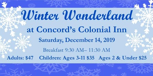 Winter Wonderland Breakfast at  Concord's Colonial Inn