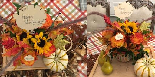 DIY Thanksgiving Floral Centerpiece Workshop