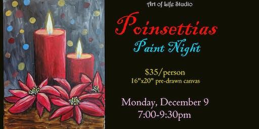 Paint Night: Poinsettias