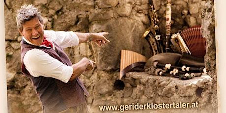 Geri der Klostertaler, inkl. Essensgutschein 5€ und Getränkegutschein 10€ Tickets