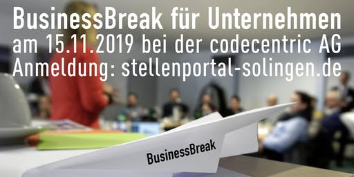 BusinessBreak HR am 15.11.2019 bei der codecentric AG