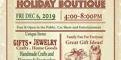 MCC Red Mountain Annual Holiday Boutique and Car Show tickets