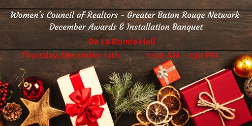 December Awards & Board Installation Banquet