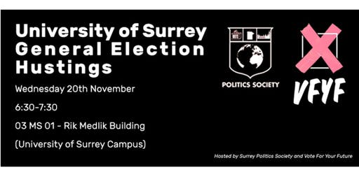 University of Surrey General Election Hustings