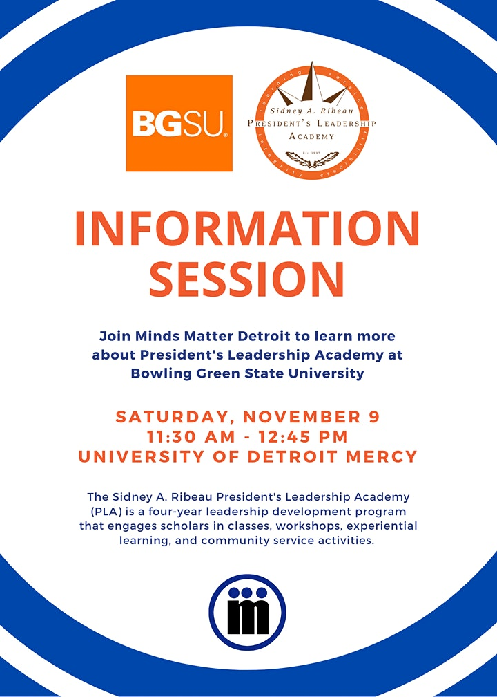 BSGU President's Leadership Academy  Information Session image