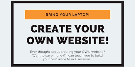 Design Your Own Website and SAVE! tickets